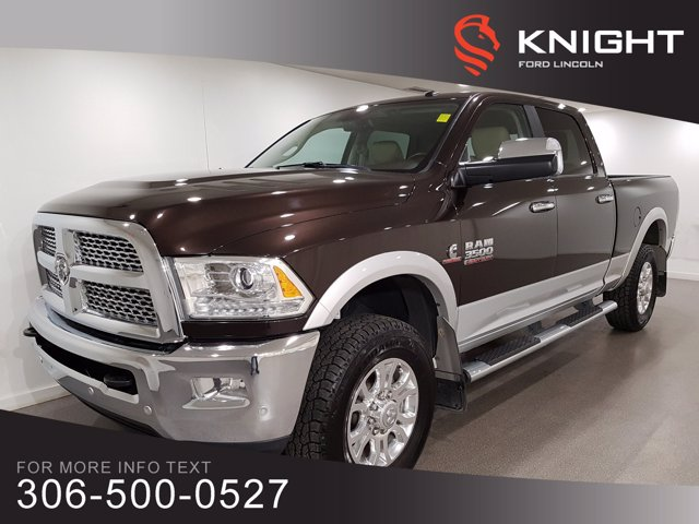 Pre-Owned 2017 Ram 3500 Laramie, Navigation, Low Km's, Excellent Condition!