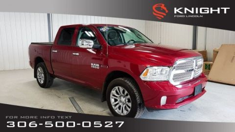 Pre-Owned 2015 Ram 1500 Laramie Limited, Eco Diesel, Leather, Navi, 4x4, Certified!!