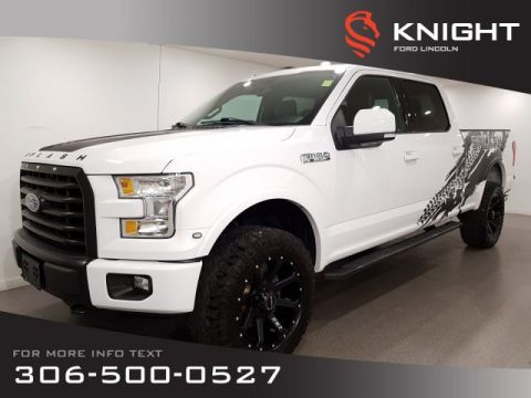 Pre-Owned 2016 Ford F-150 Auto, Crew, Leather, Navigation, Lift Kit, Upgraded Rims/Tires, Custom