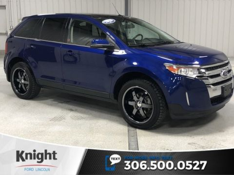 Pre-Owned 2013 Ford Edge Limited, Auto, Leather, Sunroof, Htd Seats, Rear DVD, Upgraded Wheels