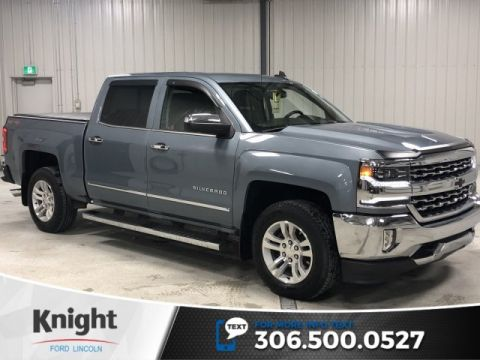Pre-Owned 2016 Chevrolet Silverado 1500 LTZ, Auto, Leather, Crew, 4x4, Tonneau Cover, Local trade
